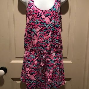 Lilly Pulitzer romper navy/hot pink size small